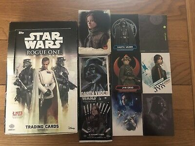 2016 Topps Star Wars Rogue One Series 1 Mini Maser Set Base + 7 Chase 155 Cards