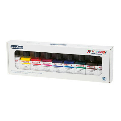 Schmincke Acrylfarbe AERO COLOR Professional Kartonset BASIC 9 x 28 ml Flaschen