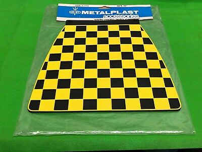 Original 1960'S Nos Metalplast Rear Mudflap Black & Yellow Fits Lambretta Vespa