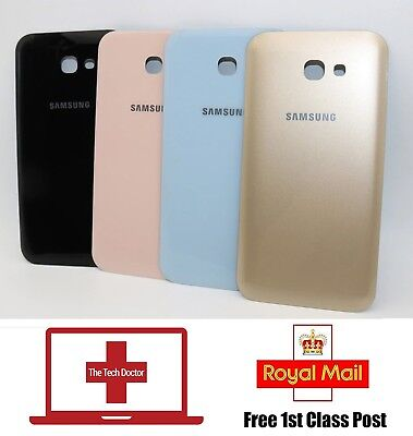 Samsung Galaxy A3 A5 2017 A320 A520 Glass Rear Back Battery Cover Housing Cover