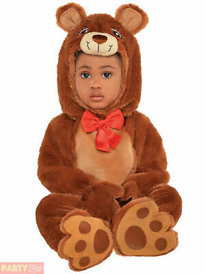 Baby Toddler Cuddly Teddy Bear Costume Boys Girls Fancy Dress Book Kids Outfit