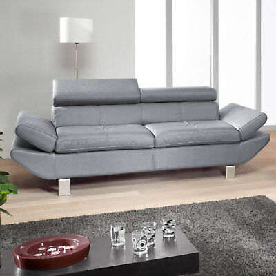 Sofa Carrier Couch Polstermöbel Mit Relaxfunktion 3er Sofa In Grau