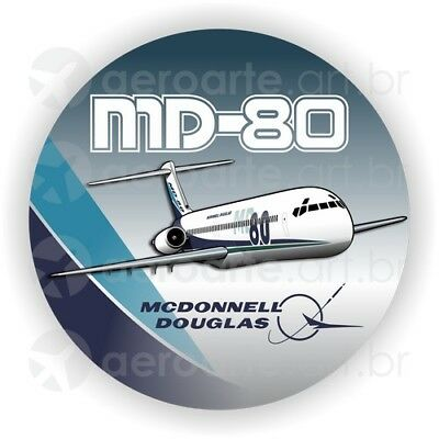 McDonnell Douglas MD-80 aircraft round sticker