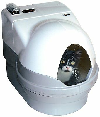 Self-Cleaning Litter Box Dome & Sidewalls Only White Cat Pet Supplies No Smell