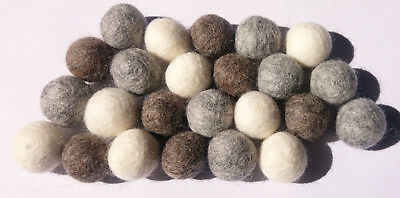Size 2 cm Natural color Pom Pom Felt Balls Woolen Balls Choose quantity DIY