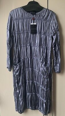 4981f2b431 RENZO + KAI Peacock Print Silk Kaftan Tunic Dress Size Small ...