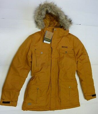 2ad6a73d548 BNWT Men s Regatta Mustard Yellow Fur Trim Hooded Parka Coat Jacket Size  Medium