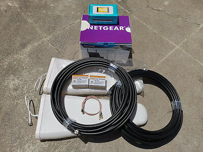 High speed 4G Broadband Set Netgear Optus AC800S Cradle DC112A LPDA Antenna