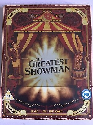 The Greatest Showman Steelbook Limited Edition (Blu-ray,DVD,Lyric Booklet)