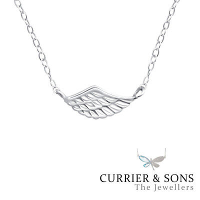 """925 Sterling Silver /""""Angel Wing /"""" 18/""""//20/"""" Pendant A109 Right"""