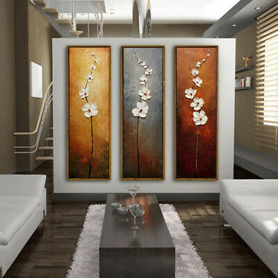 3Pcs Set Colorful Flower Unframed Canvas Abstract Painting Xmas Gifts