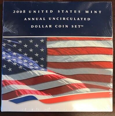 2008 US Mint Annual Uncirculated Dollar Coin Set *MINT SEALED* (BIN:1)