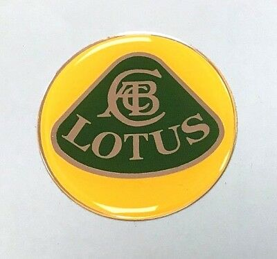 LOTUS Sticker/Decal 45mm DIAMETER HIGH GLOSS DOMED GEL FINISH