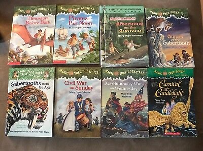 8 Magic Tree House Books for $15 Free Shipping!