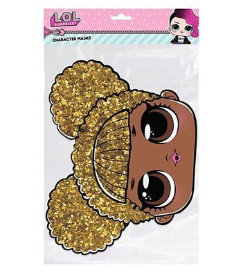 Queen Bee LOL Surprise 2D Card Party Face Mask Fancy Dress Up lol doll Official