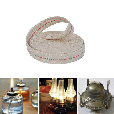 15ft 3/4' Flat Cotton Oil Lamp Wick Roll For Oil Lamps Lanterns BH