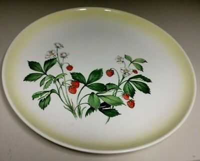 Vintage Strawberry Taylor Smith Taylor 10'' Dinner Plate(s) Berry Yellow