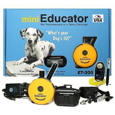 E-Collar Technologies Mini Educator Remote Trainer ET-300 CAR CHARGER FREE!