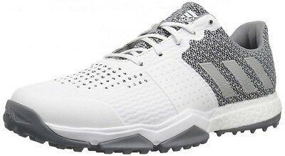 Adidas Adipower s Boost 3- Men's Golf Shoes-Color White/Grey Q44776