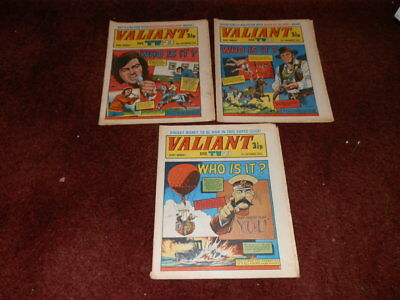 VALIANT & TV21 COMICS - x 3 - SEPTEMBER / NOVEMBER 1972..FREE SHIPPING UK