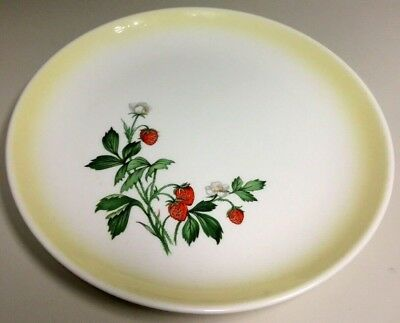 Vintage Strawberry Taylor Smith Taylor 6.5'' Bread and Butter Plate(s) Yellow