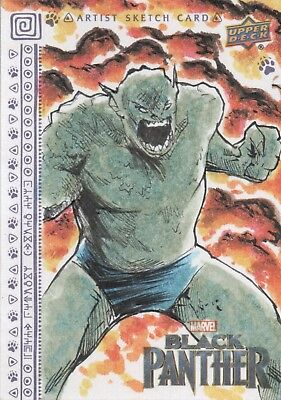 Black Panther, Sketch Card by Shawn Langley  1/1
