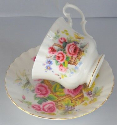 Royal Albert Cup & Saucer Floral Flowers In a Basket