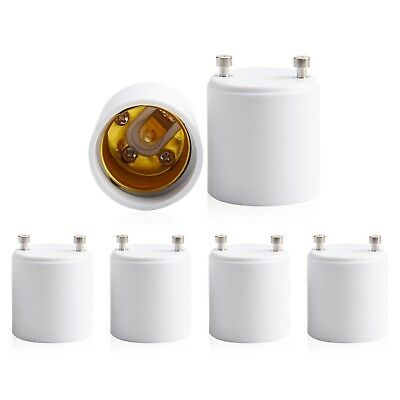 JACKYLED GU24 to E26 E27 Adapter 6-pack Heat Resistant Up to 200℃ Fire Resist...
