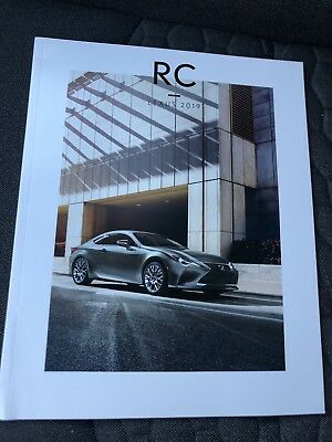 2019 LEXUS RC 42-page Original Sales Brochure