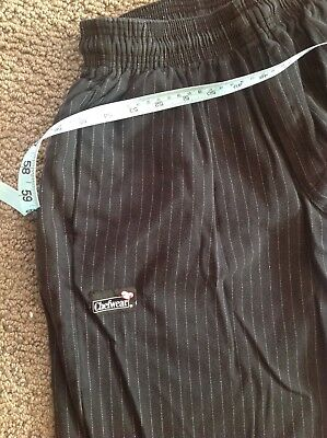 Chefwear Cook Pants Medium long ultimate cotton 3500-50 black/grey pinstripe