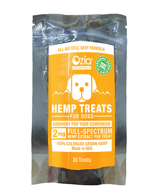 Hemp Dog Treats (Mislabeled) Beef Flavored - by Ozia Originals - Free Shipping