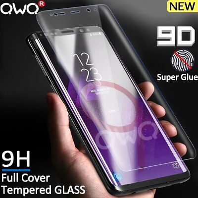 9D Full Curved Tempered Glass Samsung Galaxy S8 S9 Plus S7 EDGE Note 9 8 And A8