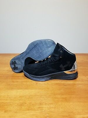 a9f2aabafca UNDER ARMOUR UA Steph Curry Lux 1 Black Men s Mid Sneakers Sz 10 ...