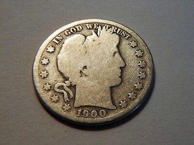 1900-S G Silver Barber Half Dollar,  Nice *Low Priced* Coin for any collection