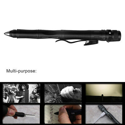 LED Rechargeable Multi-purpose Tactical Pen Tungsten Steel Outdoor Survival New