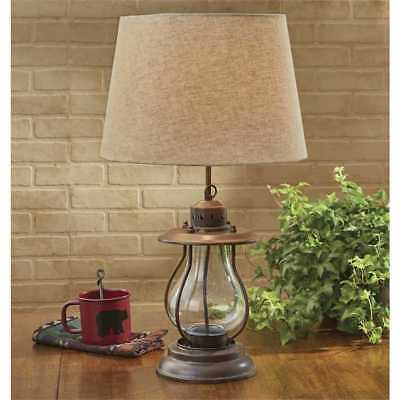 Iron Rustic Lantern Lamp With Shade By Park Designs Country