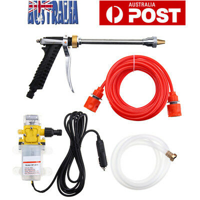 12V 60W 87PSI High Pressure Car Washer Cleaner Water Wash Pump Sprayer Tool