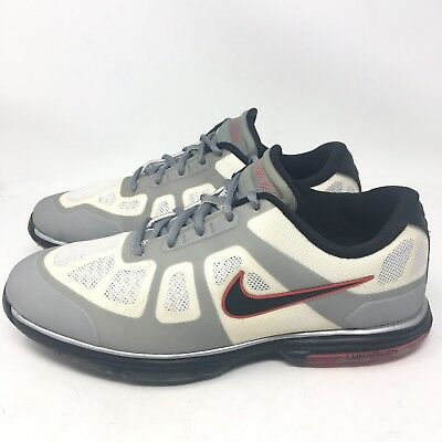 size 40 3c345 92b38 Nike Golf Shoes Lunar Ascend Mens Gray White Spikeless Sz 8.5 W Wide 483842