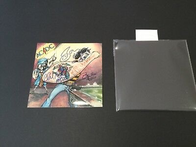 """ACDC Signed / Printed Reproduction photo 5"""" x 5"""". *Take a look*"""