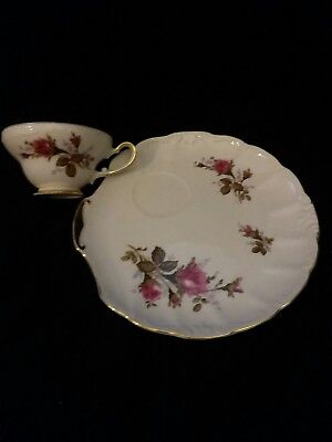 luncheon/snack plate with tea cup