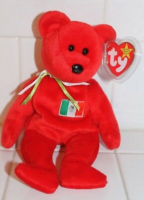 NEW w TAG ORIGINAL1999 TY BEANIE BABIES OSITO MEXICAN BEAR RETIRED ERROR BABY