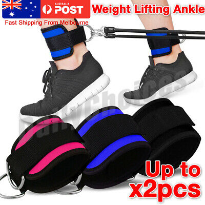 AUSTODEX Weight Lifting Ankle D-Ring Pulley Cable Attachment Gym Leg Strap