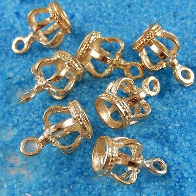 39239 Vintage Gold Alloy King Crowns Pendants Charms Finding Crafts 10pcs