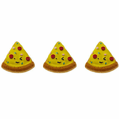 12/20PCS Yellow Resin Pizza Slice Look Flatback Cabochons Jewelry Accessories