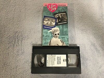 2 Vhs I Love Lucy Tv Tape Lot Job Switch Fashion Show Handcuffs