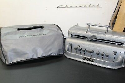 Perkins Brailler with Soft Cover Unimanual one handed braille machine working