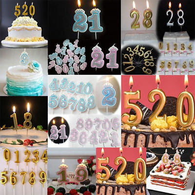 Creative Number 0-9 Birthday Cake Candles Topper Decoration Party Supplies Gift