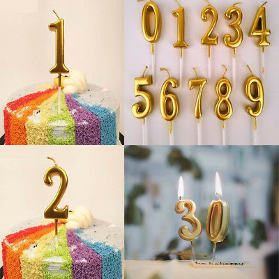 Birthday Cake Toppers Number Candles Party Candle Numbers 0 1 2 3 4 5 6 7