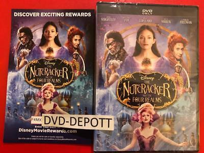 THE NUTCRACKER AND THE FOUR REALMS DVD {{AUTHENTIC W/ Disney Rewards READ}} New!