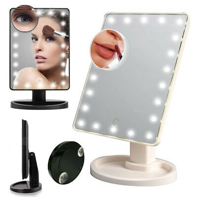 22 LED Light Illuminated Make Up Cosmetic Mirror Small Magnification Mirror UKES
